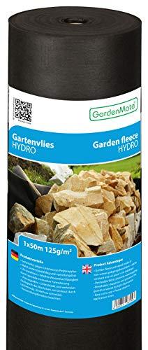 GardenMate 1m x 50m Rouleau Toile Anti-Mauvaises Herbes Hydro en Non tissé 125g/m2