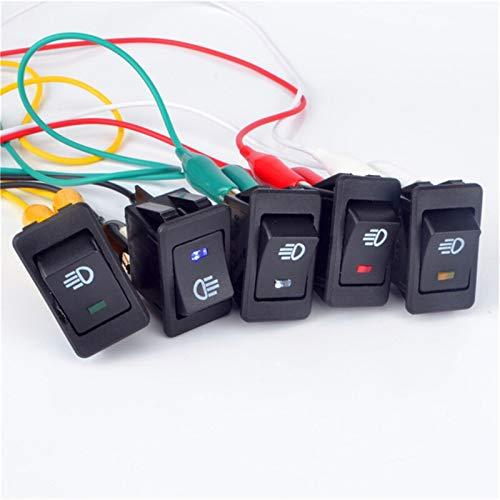 YSJJNDH Basculante Interruptor ASW-17D Rocker Switch On-Off 2 Posición 4 Pines Equipo eléctrico con Interruptor de Encendido de luz Cap de Interruptor 35A 12V Interruptor de luz (Color : Blue)