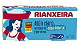 RIANXEIRA. Atún Claro al natural con un toque de Agua Mineral y Flor de Sal. Certificación de pesca sostenible MSC.