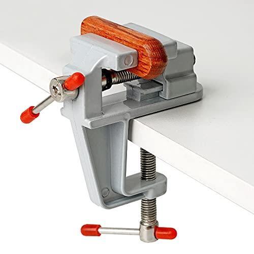 PROBEEALLYU Universal Table Vise Mini Bench Vise Portable Work Bench Vise...