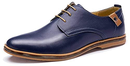 Minetom Hombres Estilo Británico Comodidad Cuero de Boda con Cordones de Zapatos...