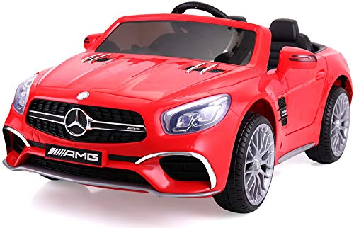 TOBBI Licensed Mercedes Benz 12V Kids Ride On Car with Remote Control MP3 Red