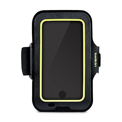 Belkin Sport-Fit Fitness-Armband für iPhone8Plus/7Plus/6SPlus/6Plus (Smartphone frei zugänglich, geeignet für Hüllen, verstellbare Größe) schwarz