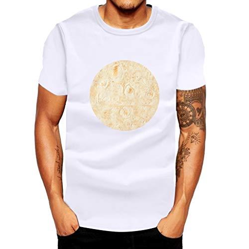 BURFLY männer Mexican Pie Print Kurzarm Top T-Shirt, Sommer Lässige Sport T-Shirt Pullover Fitness Top