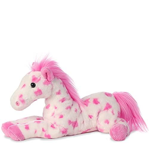 TheMogan 12' Dolly Pretty Pony Horse Zoo Soft Plush Stuffed Animal Toy Pink