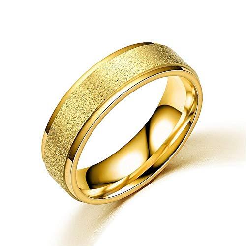 ERDING Unisex/Verlobungsring/Freundschaftsring/Matt Edelstahl Mann Frauen persönlichkeit langweilig polnisch Ringe schwarz Rose Gold Gold Silber Farben Titanium schmuck