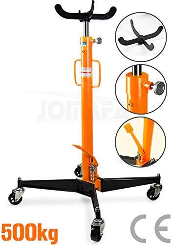Gato de foso 500 kilos para motor y cambio de transmisiones, naranja