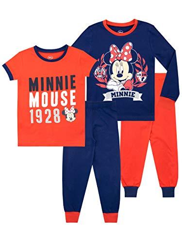 Disney Mädchen Minnie Mouse Schlafanzug Packung mit 2 Slim Fit Mehrfarbig 104