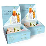 cone=shaped teas in a pale blue box