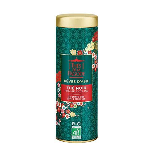 Thés de la Pagode - Exquisito té negro de Navidad de manzana - Colección Sueños Asiáticos - Edición limitada de Navidad - Caja de metal 80 gramos