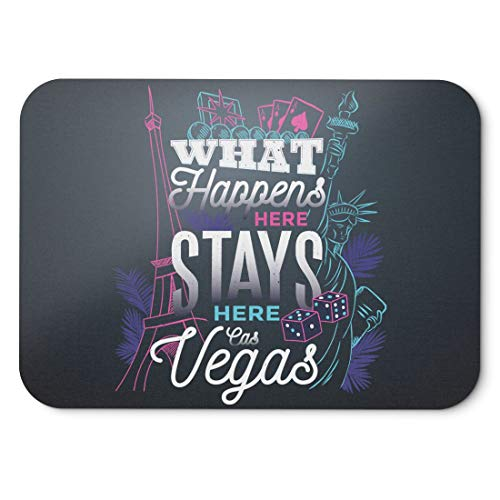 BLAK TEE What Happens In Vegas Mouse Pad 18 x 22 cm in 3 Colours Nero