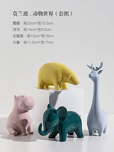WOREX Sculpture Design Décorations d'animaux Mignons Nordiques Accessoires pour la Maison Décorations de Meubles de télévision d'éléphant de Salon