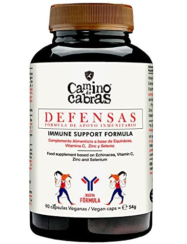 Suplemento para subir las Defensas | Alta dosis de Equinacea, Vitamina C, Zinc y Selenio | Potencia el Sistema Inmune | Estrés y cambios estacionales | Vitaminas para el cansancio | 90 Cápsulas Vegano
