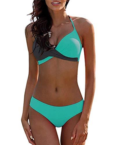 UMIPUBO Mujer Bikini Traje de Baño con Cuello en V Bikinis