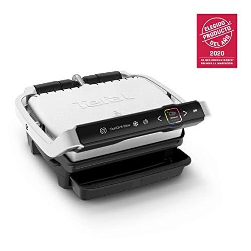 Tefal Optigrill Elite GC750D Grill parrilla eléctrica interior y exterior, sensor grill, sellado rápido, 12 programas automáticos, apto lavavajillas, antiadherente, sandwichera (Reacondicionado)
