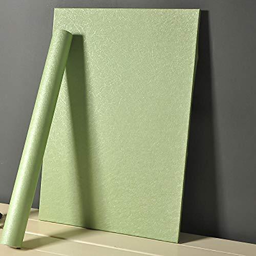 Grain contact paper waterproof self-adhesive wallpaper,Selbstklebende Tapete, wasserdichtes PVC, einfarbig-Seidengrün_60 cm * 5 m