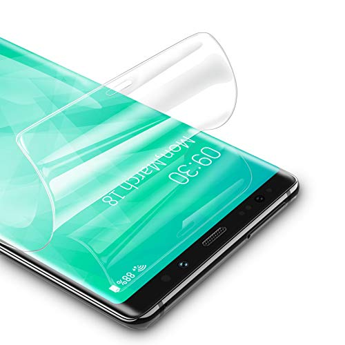 RIWNNI [3 Stück Schutzfolie für Samsung Galaxy Note 9, Ultra Dünn Weiche TPU Bildschirmschutzfolie (Nicht Panzerglas), HD Klar Bildschirmschutz Folie Full Screen für Samsung Galaxy Note 9 - Transparent