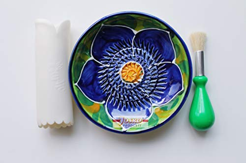 JOSKO Produkte 2738 Sofia Reibeteller Set, Keramik, lila mit grün