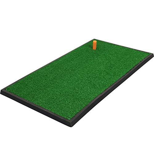 Esterilla de Golf portátil en para Entrenamiento Almohadilla de entrenamiento de lanzamiento de golf de golf de golf portátil, alfombrilla de entrenamiento de césped de césped de practicación de golf