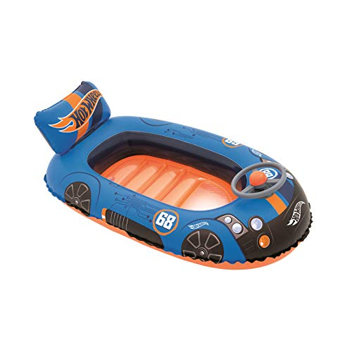 Bestway 93405 - Barca Hinchable Infantil Hot Wheels Speed
