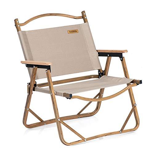 Stühle Faltstuhl Im Freien, Aluminiumlegierung Oxford Tuch Camping Wohnzimmer Klappstuhl, Angeln Tragbare Freizeitstuhl (Color : Brown)