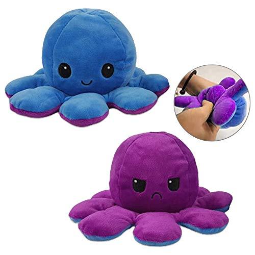Tatopa Octopus Plüschtiere | Reversible Octopus Doppelseitige Flip Plüsch Puppe Kuscheltierpuppe | Octopus Plüschtier Stofftierpuppe für Kinder, Mädchen, Jungen & Freundin