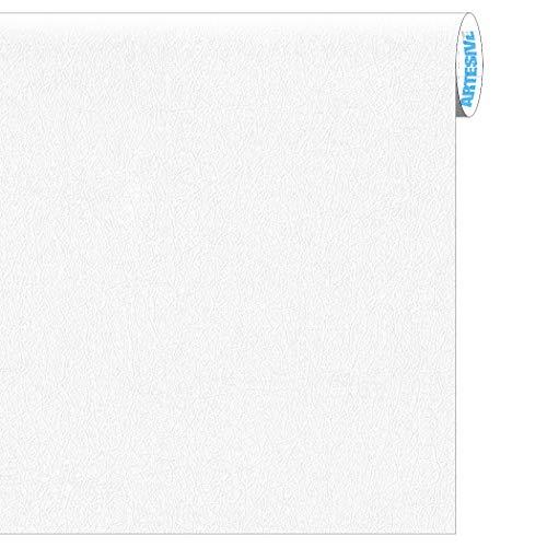 Artesive TEC-023 Pelle Bianca larg. 60 cm AL METRO LINEARE - Pellicola Adesiva effetto cuoio per interni, rinnovare mobili, porte e oggetti di casa