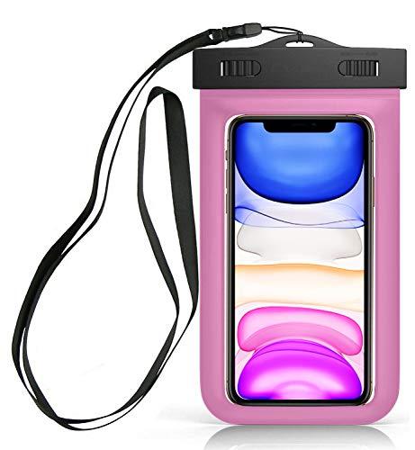 Sovica wasserdichte Tasche kompatibel mit BQ Aquaris C handyhülle IPX8-Zertifikat unterwassergehäuse hülle Handytasche (Rose)