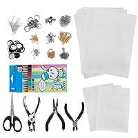シュリンキーアートペーパーキット、さまざまなパターンシュリンクフィルムペーパー、ミニアート多くのパターンキーホルダージュエリーを作る子供のための実用的なおもちゃ