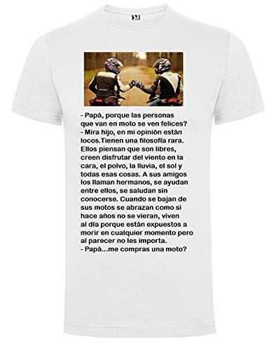 Camisetas Divertidas Graciosas FILOSOFÍA Motera Unisex