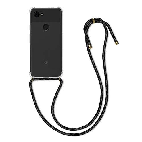 kwmobile Google Pixel 3a Hülle - mit Kordel zum Umhängen - Silikon Handy Schutzhülle - Transparent