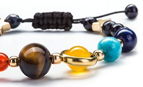 Product Image 6: Fesciory Women Men Solar System Bracelet Universe Galaxy The Eight Planets Guardian Star Natural Stone Beads Bracelet Bangle(Blue Sandstone(Adjustable))