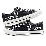 MLX-BUMU Serie De Impresión Zapatillas De Deporte Clásicas Zapatos De Lona Casual Cómodo Detective De Dibujos Animados Conan Kudo Shinichi,Black,41