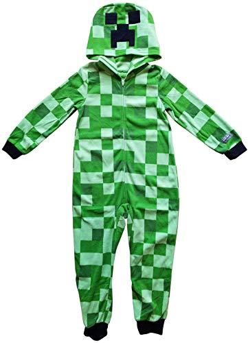 Minecraft Creeper Boys Union Suit Costume Pajamas,Green,Medium 8