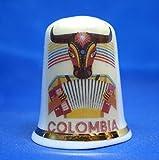 Birchcroft - Dedal de porcelana coleccionable de China – Póster de viaje Colombia – caja gratis