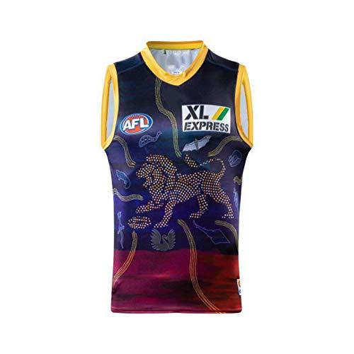 DDsports Brisbane Lions 2021, Australian Football Trikot, Neuer Gestickter Stoff, Swag Sportswear (3XL)