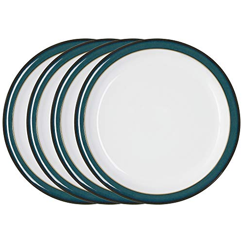 Used, Denby Greenwich 4 Piece Dinner Plate Set for sale  Delivered anywhere in UK