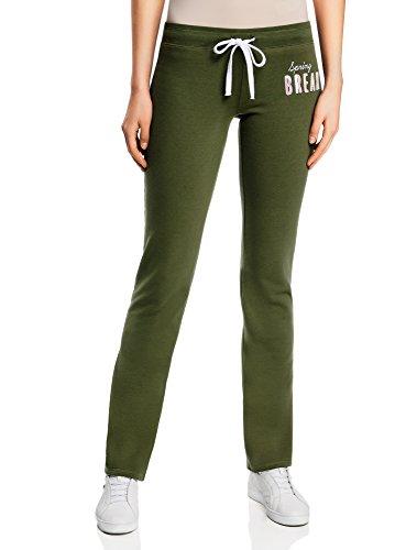 oodji Ultra Mujer Pantalones de Punto con Cordones, Verde, ES 40 / M