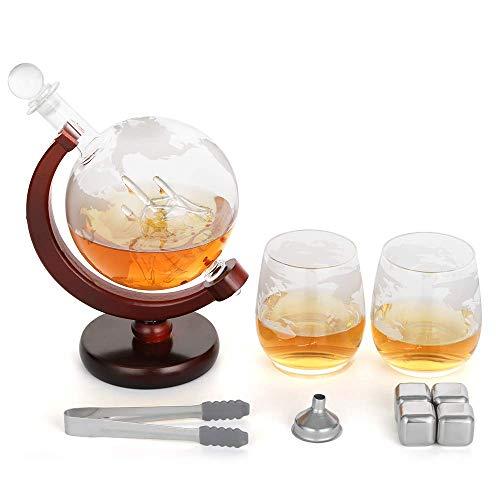 NEX Globe Gläser und Whiskeysteine aus Edelstahl