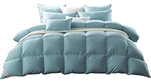 SNOWMAN Luxury White Goose Down Comforter Queen Size 100% Luxury Cotton...
