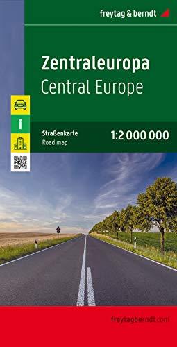 Europa centrale 1:2.000.000: Citypläne, Ortsregister mit Postleitzahlen, Entfernungen in km: AK 2004 (Auto karte)