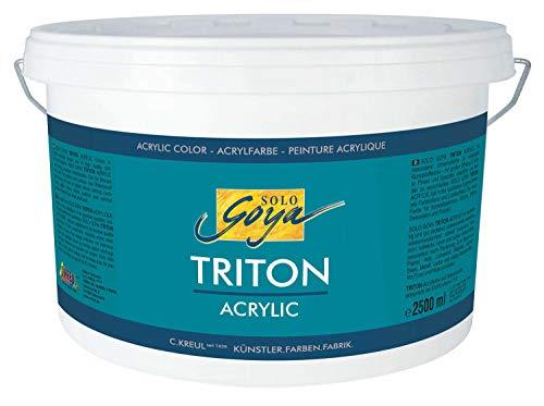 Kreul 17217 - Solo Goya Triton Acrylfarbe weiß, 2500 ml Eimer, schnell und matt trocknend, Farbe auf Wasserbasis, in Studioqualität, vielseitig einsetzbar, gut deckend und ergiebig