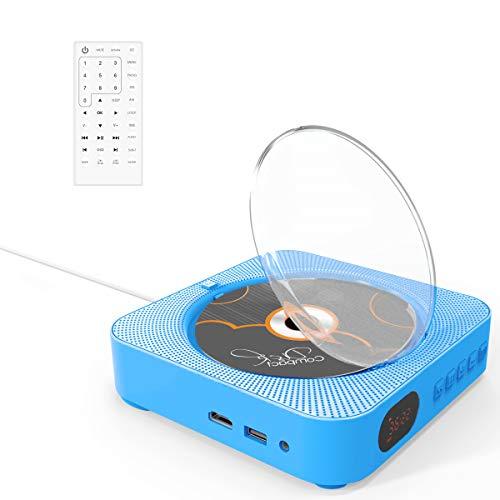 Reproductor DVD,VIFLYKOO Reproductor de DVD/CD portátil Bluetooth con HD 1080p y Altavoz...
