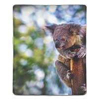 マウスパッド 滑り止め 天然ゴム 長方形 木の棒のコアラ