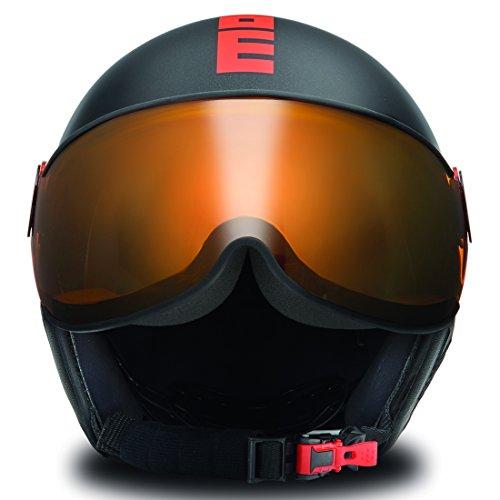 MOMO Design 1018C031033 Casco Esquí, Unisex Adulto, Negro, XS/S