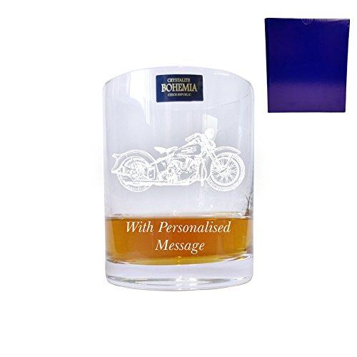 Bohemia cristallo bicchiere da Whisky con Harley Davidson Design con regalo-box - diamanti fino a 30 marchio contiene