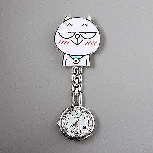 Reloj de Enfermera de Silicona,Reloj de Enfermera Luminoso de Dibujos Animados, Clip médico Reloj de Bolsillo impermeable-562,Enfermera Reloj