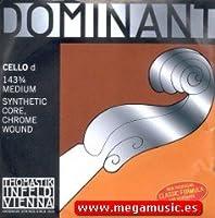 CUERDA VIOLONCELLO - Thomastik (Dominant 143) (Metal/Cromo) 2ェ Medium Cello 3/4 (Re) D (Una Unidad)