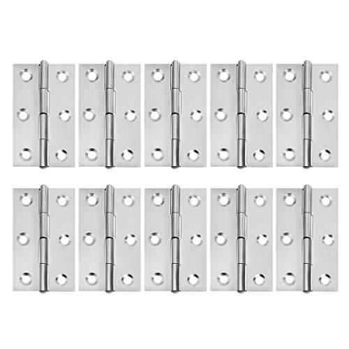 Puerta de armario Bisagra de puerta de armario Herrajes para muebles Bisagra a tope plegable de largo 55x 33 x 4.3MM