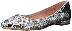 Silver Sequins Gavin Pointed Toe Flat